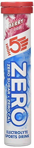 High5 Zero Electrolyte Sports Drink Tube of 20 tabs - Buy 1 Get One Free (Berry Flavour)