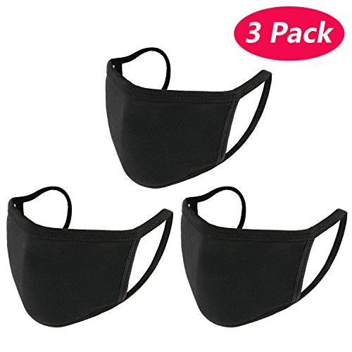 k-pop Fashion Katoen Mond gezichtsmasker Zwart [3pack]