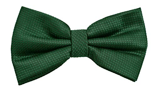 Fabio Farini - Elégant nœud papillon à carreaux pour hommes pour toutes les occasions comme le mariage, la confirmation, le bal Vert mousse