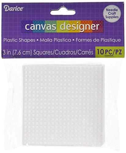 Darice Canvas Cuadrado, 7.62x7.62x0.03 cm, 10 Unidades