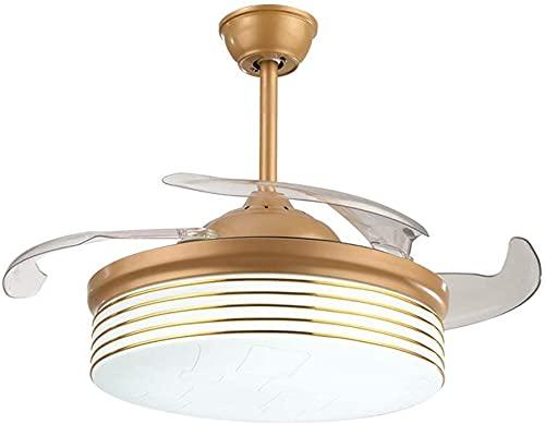 HKAFD Ventilador de Techo Invisible Luz Simple Silent LED Luz de Luz Restaurante Restaurante Sala de Estar Dormitorio Ventilador Moderno Ventilador de Techo para Sala de Estar Dormitorio