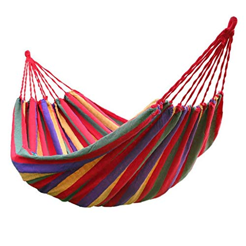 Portable Hanging Hammock Indoor Home Bedroom Hammock Lazy Chair Travel Outdoor Camping Swing Chair Thick Canvas Bed Hammocks Household Products