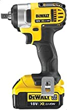 DeWalt 18V XR Li-Ion Compact Impact Wrench, 2 x 4.0Ah XR Li-Ion Batteries & Charger, Yellow/Black, DCF880M2-GB, 3 Year War...