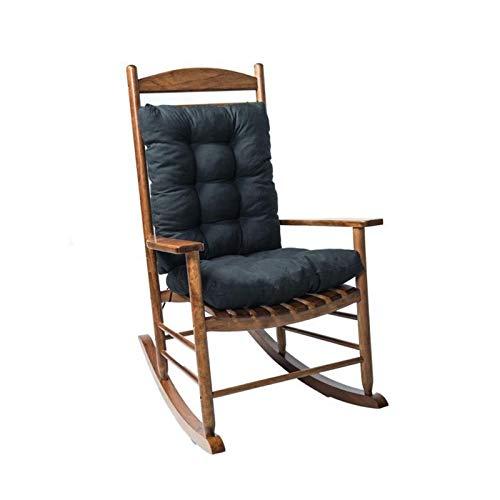 Bidet Silla Cojines Lounge Cojín, 2 unids/Set Home Cane Cane Schane Cushion Garden al Aire Libre antiincrustante Cojín Matera Estera del Piso, sin Silla (Color : Schwarz)