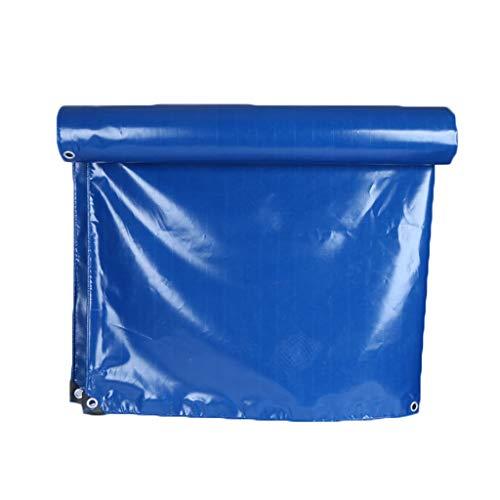 LILIS Fundas Muebles Jardin Impermeable PVC Tarpa Impermeable Tarpa Tarpón Tarjeta de Lona de Servicio Resistente Reforzado, Azul, Tallas múltiples, 350 g/m² (Color : Blue, Size : 2X4M)
