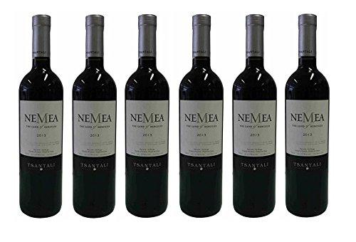6x 750ml NEMEA griechischer Rotwein trocken 12,5% Tsantali Spar Set + 2x Probiersachet Olivenöl kaltgepresst von Kreta