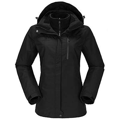 CAMEL CROWN Women's Waterproof Ski Jacket 3-in-1 Winter Coat Windbreaker Fleece Inner for Snow Rain Hiking Outdoor
