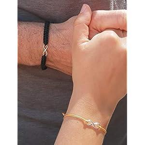 925 Sterling Silber, weitere Farrben, Partner Armband mit Infinity/Unendlichkeit Symbol, Infinity Partnerarmband…