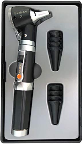 TAXXAN LED Pocket Fiber Optic Otoscope Set ENT Diagnostic KIT with Adult, Child, Infant Specula Tips