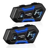 FODSPORTS FX4 Pro Intercomunicador Casco Moto Doble con CVC