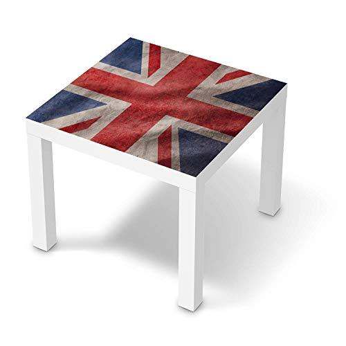 creatisto Möbelfolie passend für IKEA Lack Tisch 55x55 cm I Möbeldeko - Möbel-Folie Tattoo Sticker I Wohn Deko Ideen für Wohnzimmer, Schlafzimmer - Design: Union Jack