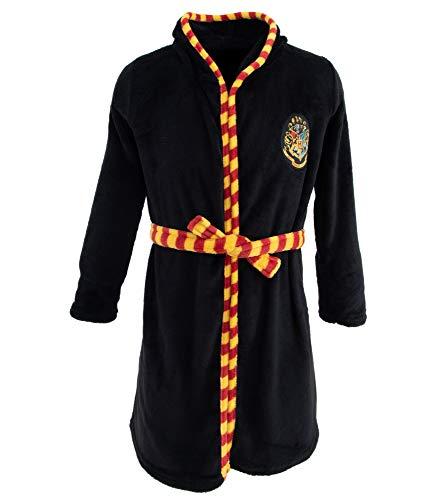Harry Potter Mädchen oder Jungen Bademantel mit Kapuze (Schwarz, 116-122)
