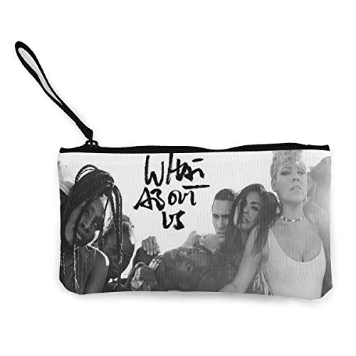 P!nk What About Us Canvas Coin Purse Cosmetic Makeup Storage Wallet Clutch Purse Pencil Bag