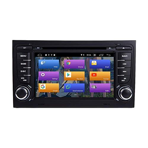 FDGBCF para Audi A4 S4 RS4 Seat Exeo Android 10.0 Doble DIN 7'Reproductor de DVD para automóvil Navegación GPS Multimedia Auto Radio Estéreo Auto Play/TPMS/OBD / 4G WiFi/Dab/SWC