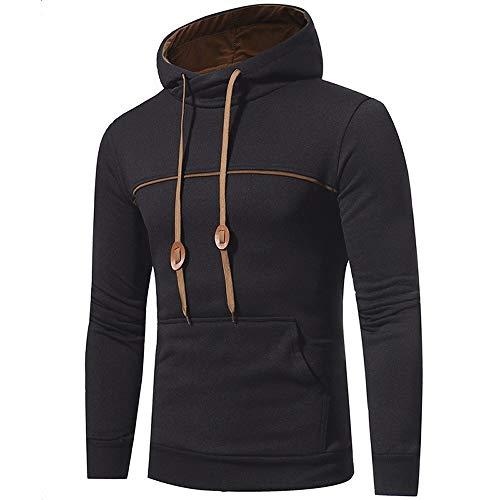 À Long Manteau De Veste Tops Sweat-Shirt Hoodies De Manches Vêtements de Fiesta pour Hommes Hommes à Capuche Porter à Capuche Gris Foncé M (Color : Schwarz T1, Size : Eu-44/Cn-3Xl)