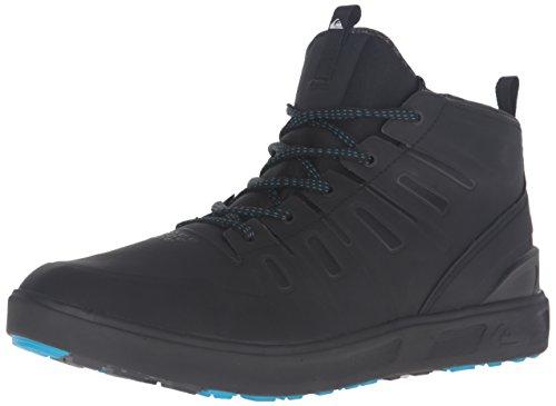 Quiksilver Patrol Mid Water Resistant, Zapatos para Senderismo Hombre, Negro, Negro y Blanco, 40 EU