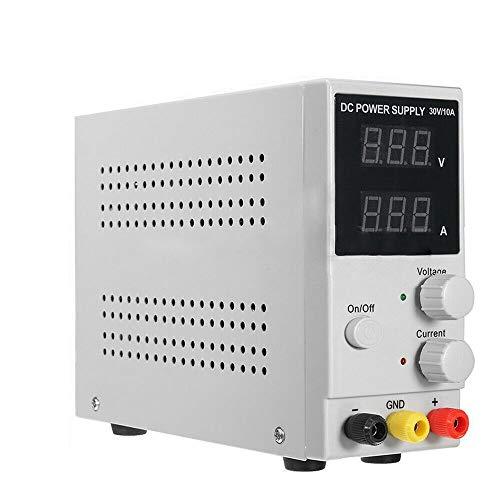 0-30v 0-10A Labornetzteil Regelbar YUNRUX Regelbares Labor Netzgerät DC Konstantspannung Digitales Labornetzgerät DC Trafo Netzteil Strommessgeräte Stromversorgung mit Digitalanzeige