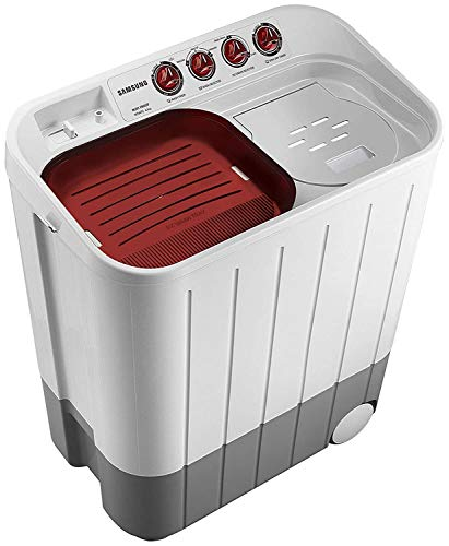 Samsung 6.5 kg Semi-Automatic 5 Star Top Loading Washing Machine (WT667QPNDPGXTL, White and Maroon, Double Storm Pulsator) 4