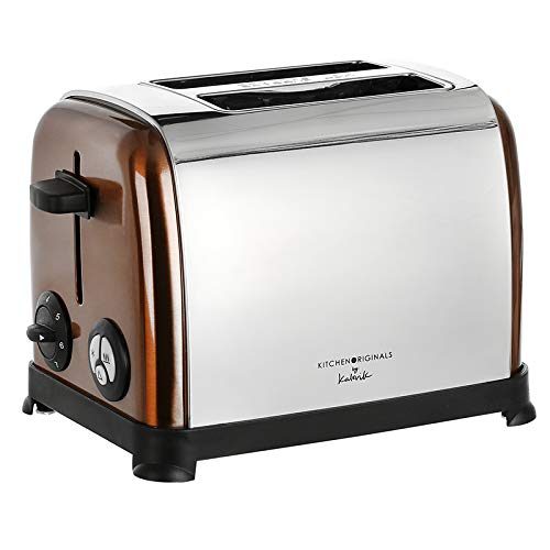 As Direct Ltd TM Kitchen Originals - Tostadora de 2 rebanadas de cobre