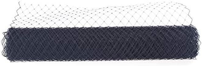 Birdcage Veil Netting Lots French Wedding Hat Fascinator Millinery Craft B089 (1 Yard, Black)