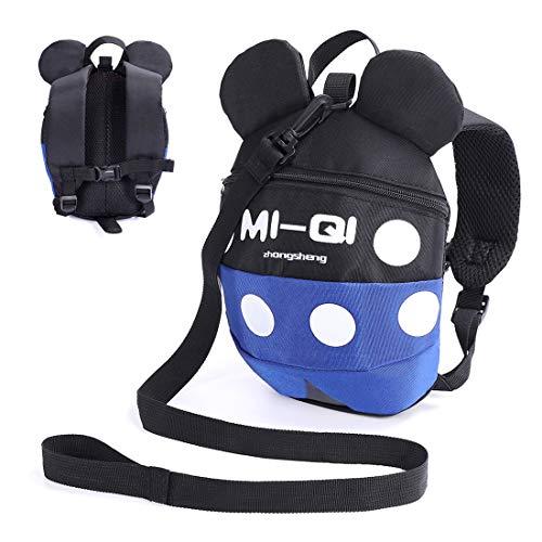 Kleinkind-Rucksack mit Zügeln, Anti-Verlust-Rucksack mit Sicherheitsgurt, Baby Vorschule mit Leine für 1-5 Jungen und Mädchen