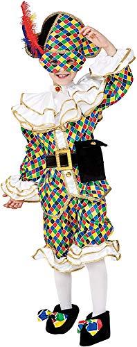 VENEZIANO Costume di Carnevale da ARLECCHINO Baby Vestito per Bambino Ragazzo 1-6 Anni Travestimento Halloween Cosplay Festa Party 8944 Taglia 6