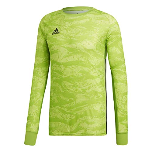 adidas AdiPro 19 Goalkeeper Long Sleeve Jersey (Medium, semi Solar Green)