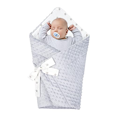Saco de Dormir para bebé de - Manta de niño pequeño de Dormir, Todo el año, Saco Reversible para Envolver Gris