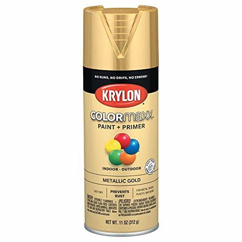 Krylon K05588007 COLORmaxx Spray Paint and Primer for Indoor/Outdoor Use,...