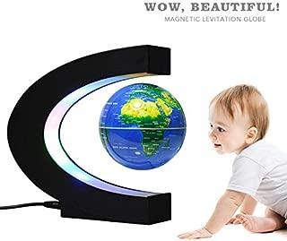 globo de nivelaci/ón magn/ética flotante color dorado 6Gold Globe regalo decoraci/ón de escritorio hogar bola de tierra con luz LED antigravedad para ni/ños oficina Globo