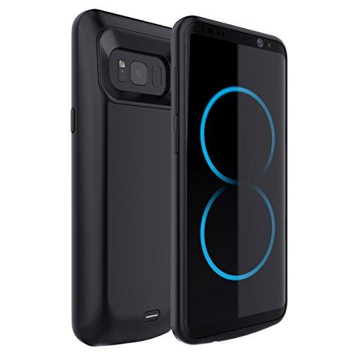 Moonmini Samsung Galaxy S8 5000mAh Ultra dünnes Akku Case Hülle Handyhülle [Anti-Rutsch] [Stoßfest] Batterie Case eingebautem Akku für Samsung Galaxy S8(2017) … (1)