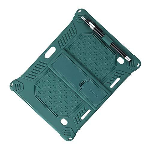 Fauge Funda de Silicona para M30 M30 Funda Protectora para Tableta de 10,1 Pulgadas Soporte Ajustable para Tableta con LáPiz (Verde Oscuro)