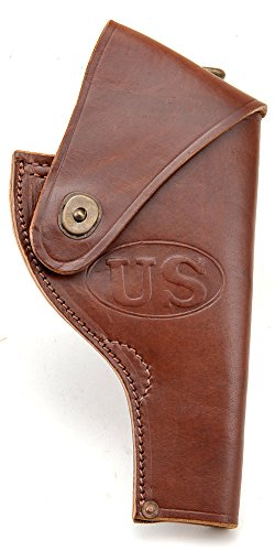 World War Supply US WW2 Victory Model Revolver Holster in Brown Leather .38 Special Marked JT&L 43 fits Smith & Wesson Model 10 and Similar Sized Revolvers