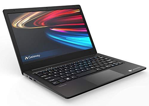Gateway 14.1' Ultra Slim Notebook, FHD, Intel Celeron, Dual Core, 4GB 64GB, Tuned by THX Audio, Mini HDMI, Cortana, 1MP Webcam, Windows 10 S, Microsoft 365 Personal 1-Year Included, Black