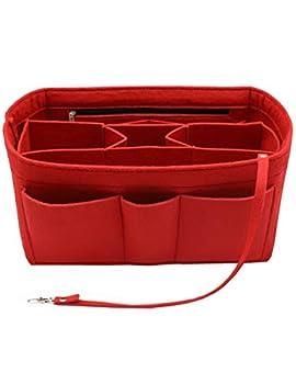 Felt Insert Bag Organizer Bag In Bag For Handbag Purse Organizer Fits Speedy Neverfull RED MEDIUM