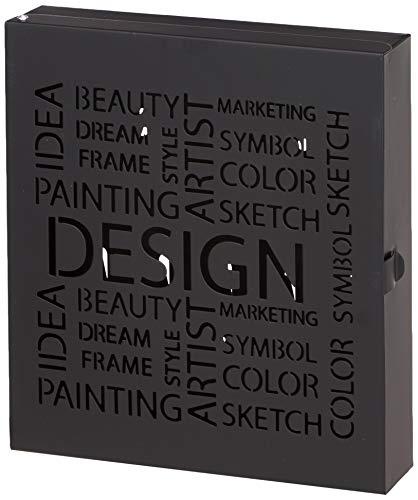 HAKU Möbel 44525 Schlüsselkasten 22 x 5 x 24 cm, schwarz