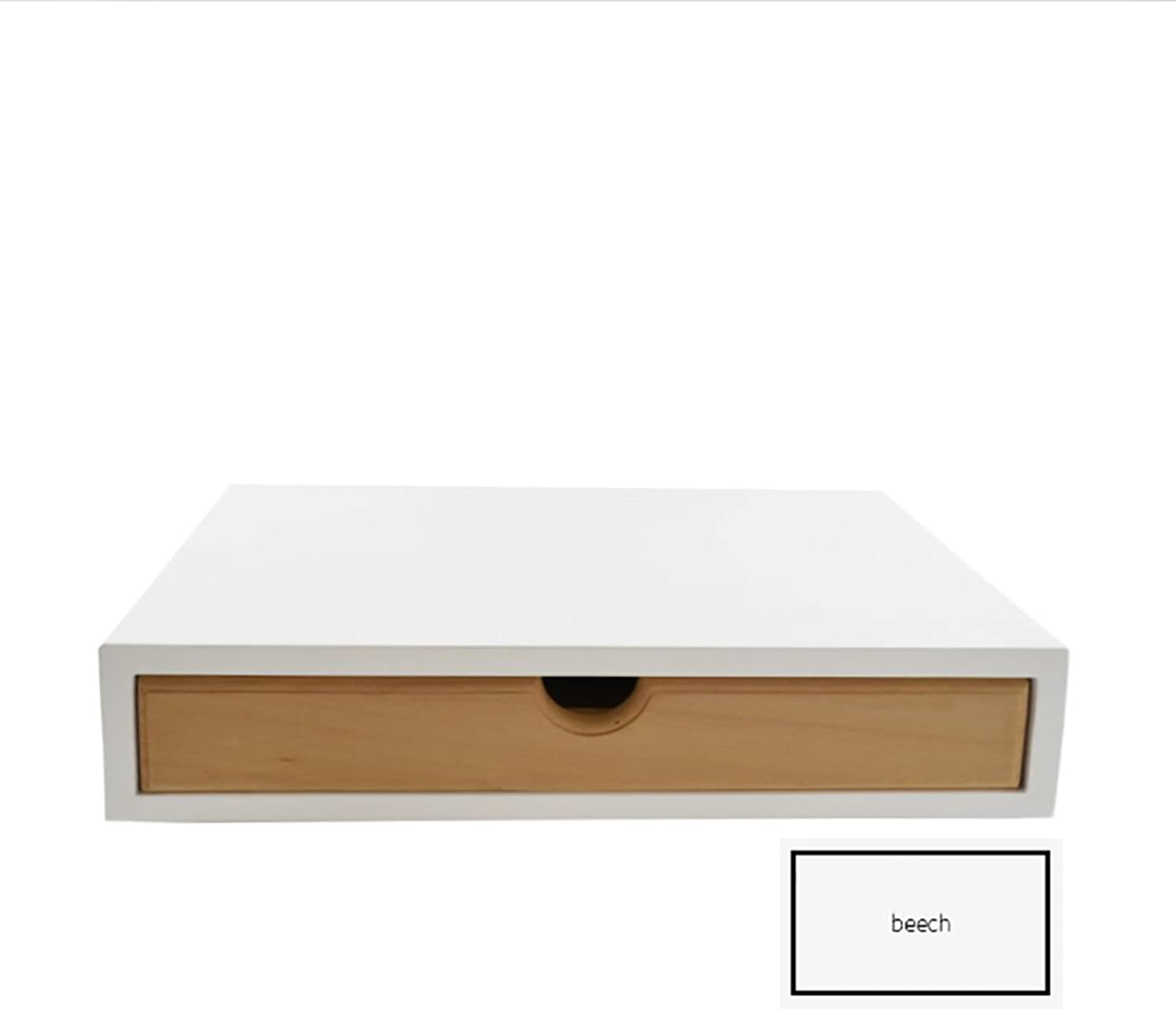 Organizer Holder Storage Drawers Decorative Wooden Drawers with Japanese Style Design 1 Drawer (color   Beech)