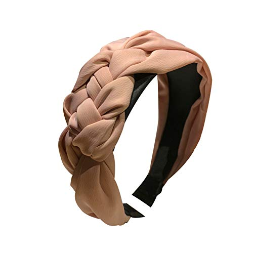 Homeofying - Diadema ancha con nudo trenzado para mujer; tocado, accesorios para el cabello. Color liso