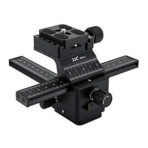 JJC Deluxe Arca-Swiss Macro Focusing Rail Silder for Canon EOS R R5 R6 6DM2 5DM4 90D T8i T7 Nikon Z6 Z7 D750 D850 D7500 D5600 Sony A7III A7RIV A6600 A6500 A6100 Fujifilm X-T4 X-T3 X-30 X-T20 & More