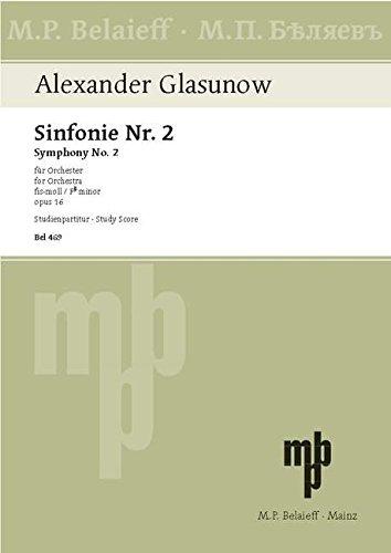 Sinfonie Nr. 2 fis-Moll: op. 16. Orchester. Studienpartitur.