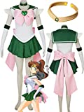 YOUYI Sailor Moon Sailor Jupiter Cosplay Jumper Kino Makoto Halloween (Female M) Green