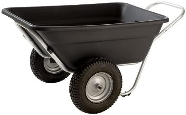 Smart Cart LX 7 Cubic Ft Garden Utility Cart Turf Wheels