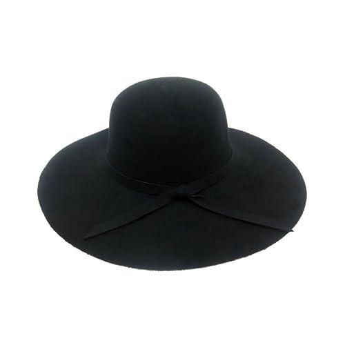 1abbfbc2670 iShine Women s Faux Retro Wool Foldable Wide Brim Fashion Felt Bowler  Fedoras Summer Beach Hats Lady