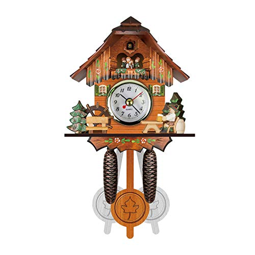 Reloj de Pared de Cuco Reloj Despertador Reloj Retro Reloj de Madera para Sala de Estar,Estilo Nórdico Spritumn