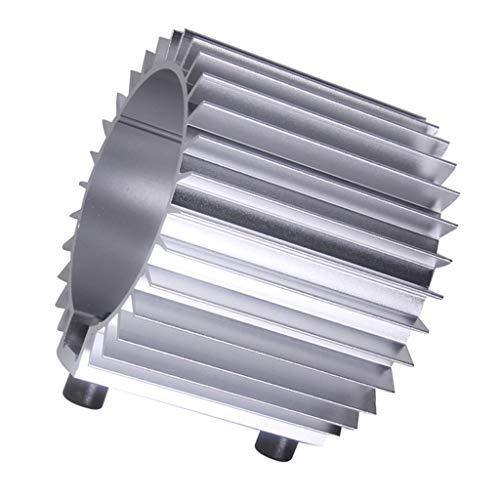 KESOTO 12.5x12.5x11cm Filtro de Aceite Disipador de Calor para Vehículo Carro - Plata