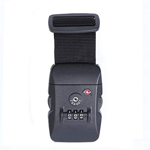 Logic(ロジック) スーツケースベルト TSAロック ベルト (全12色 ブラック 黒) [盗難・紛失・荷崩れ防止] スーツケース用 鍵付き ダイヤルロック タスロック 長さ調節可能