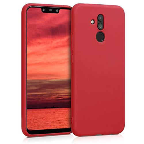 kwmobile Huawei Mate 20 Lite Cover - Custodia per Huawei Mate 20 Lite in Silicone TPU - Backcover Protezione Rosso Scuro