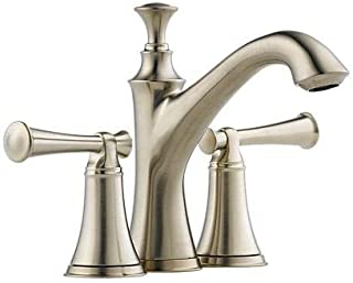 Brizo 65505LF-BNLHP Baliza Two Handle Mini-Widespread Lavatory Faucet without Handles, Brilliance Brushed Nickel