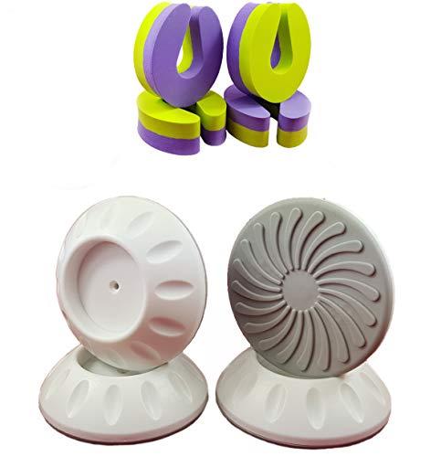 4 Wandschutz pads für Türgitter Treppengitter Treppenschutzgitter bis 4cm inkl 4 Fingerklemmschutz