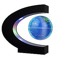 √ Magnet Globus und lustige Dekoration: Der schwimmende Globus ist etwa 3 Zoll Durchmesser, 360 Grad schwimmend und drehte sich im Midair-Globus, mit farbigem LED-Licht, um es im Dunkeln zu zieren, wenn es eingeschaltet wurde. √ Schwimmen Stabilitar ...